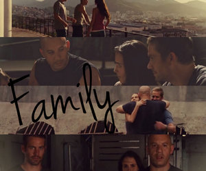 family, paul walker, and Vin Diesel image