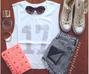 outfit, converse, and fashion image