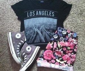 black shirt, los angeles, and pretty image