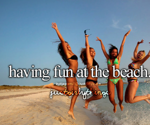 beach, summer, and fun image
