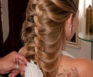 hair style and tattoo image
