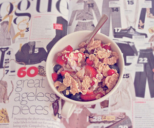 food, cereal, and magazine image