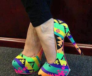 shoes, heels, and colorful image