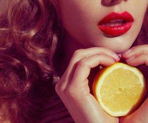 girl, hair, and lemon image