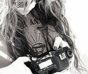camera and miley cyrus image