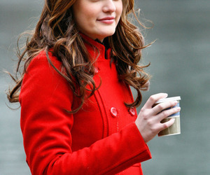 coat, coffee, and red image