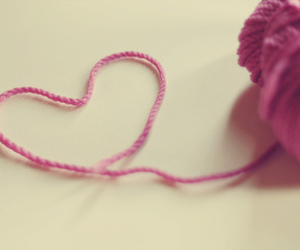aw, crocheting, and heart image