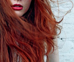 red hair, hair, and red image