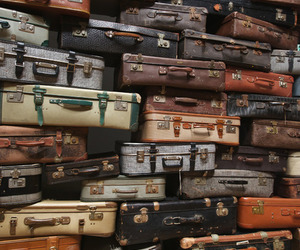 retro, travel, and suitcase image
