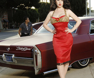 50s, makeup, and rockabilly girl image
