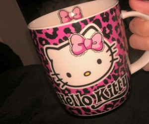 animal print, girly, and HelloKitty image