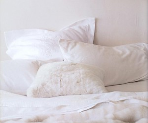bed, white, and confort image