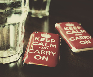 carry on, keep calm, and red image
