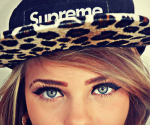 girl, supreme, and eyes image