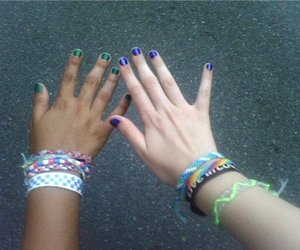 bracelets, summer, and colors image