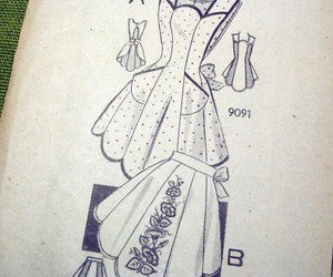 1940s, apron, and sewing image