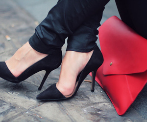 bags, shoes, and black image