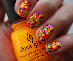 colors, nails, and orange image