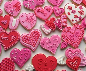 be mine, hearts, and Cookies image