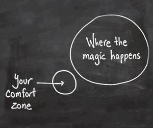 magic, comfort zone, and quotes image
