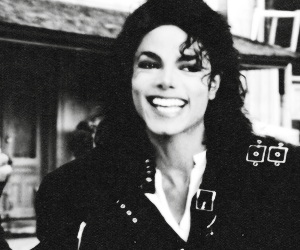 black and white, jacksons, and king image