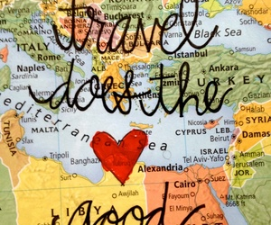 travel, quotes, and heart image