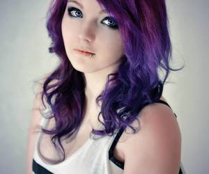 beauty, blue, and curly hair image