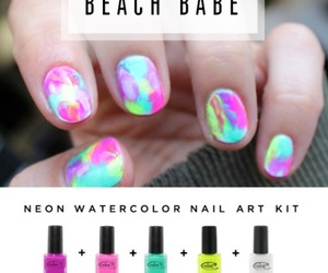 beach, nail art, and summer image
