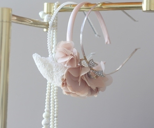 bow, floral, and headband image