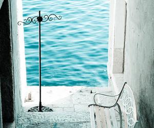 sea, blue, and white image