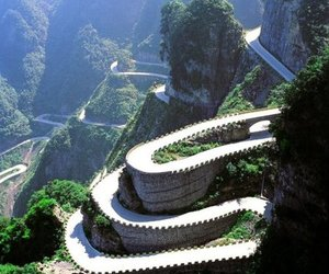 china, hairpin, and highway image