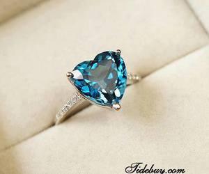 blue, diamonds, and heart image