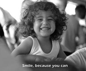 smile, quote, and black and white image