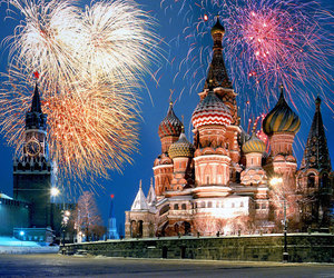 fireworks, moscow, and russia image