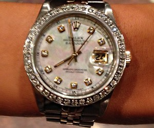 birthday present, rolex watch, and morgan brittany image