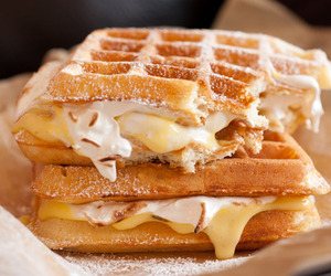 candy, delicious, and waffles image