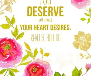 heart, quote, and flowers image