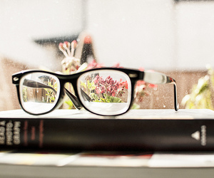 book, photography, and glasses image