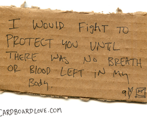 cardboard and love image