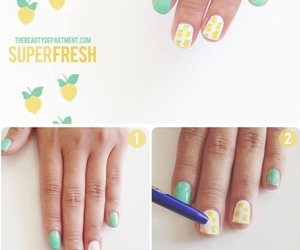 nails, lemon, and diy image