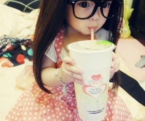 kawaii, baby, and glasses image
