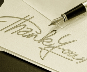thank you and thank you note image