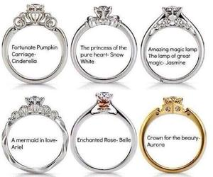 princess, disney, and rings image