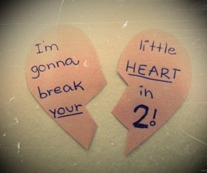 all time low, heart, and broken image