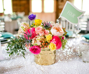 wedding bouquet, wedding flowers, and table flowers image