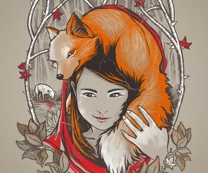 art, drawing, and fox image
