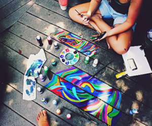 girl, art, and colorful image