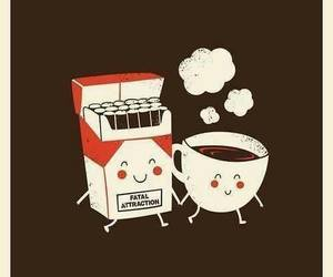 coffe, smile, and love image