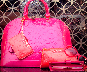 pink, Louis Vuitton, and bag image