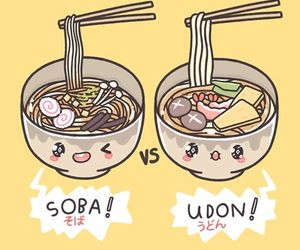 soba, udon, and cute image